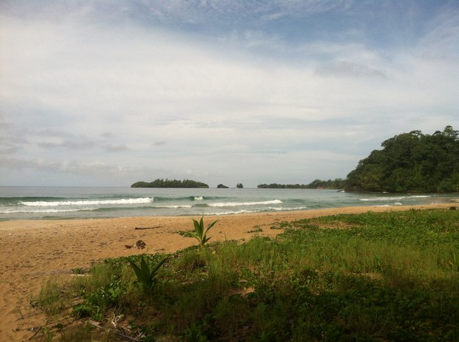 Another deserted beach in the islands of Bocas del Toro