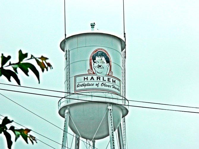 Water tower in Homer, GA.