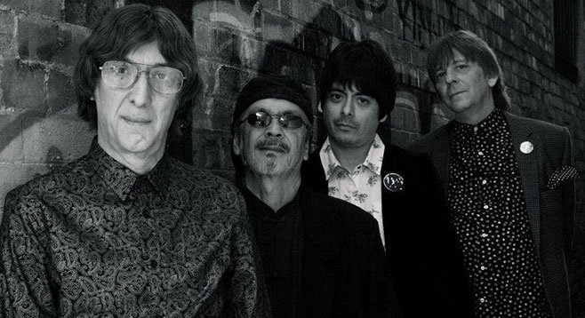 Victor Penalosa (second from right) with bandmates/idols the Flamin' Groovies