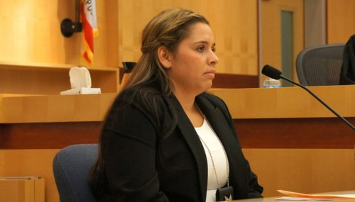 Deputy Michelle Storms gave testimony. Photo Eva.