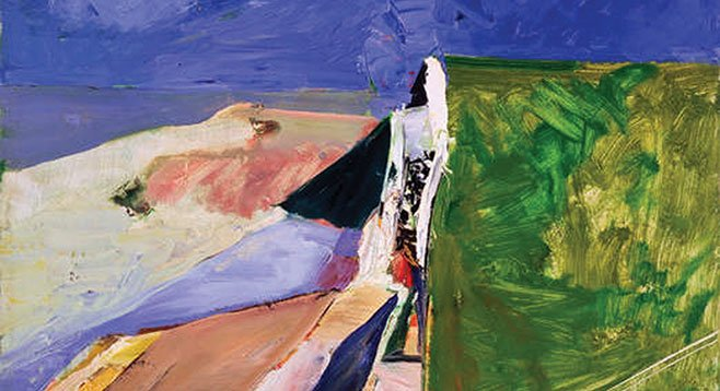 Richard Diebenkorn's Seawall (1957), oil on canvas