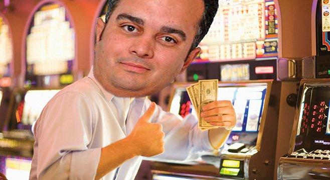 San Diego Democrats hope assembly speaker John Perez hits it big at Pala Casino.