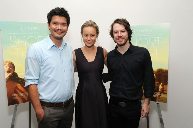 Destin Cretton, Brie Larson, and John Gallagher, Jr. attend the New York premier at MoMA.