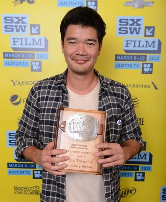 Destin Cretton at SXSW picking up his Narrative Feature Grand Jury Award.
