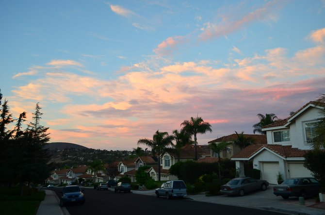 Dusk in September, Rancho Penasquitos, California