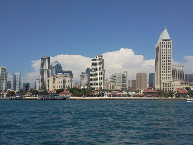 Skyline view from the boat