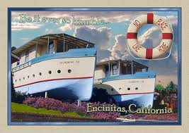 THe iconic Boat Houses are one of the 40 stops on the upcoming Historic Encinitas Bus Tour, Sept 28th
