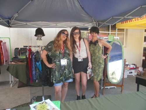 Garbo's Cathryn Beeks had a vintage clothing booth by the pool. Photo by Bart Mendoza.