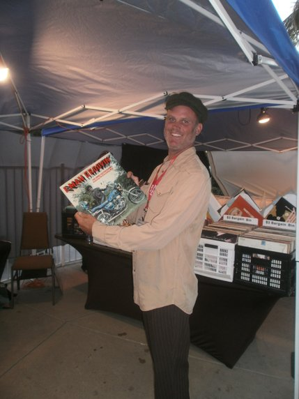 Max Bristol, owner of Flapping Jet records, does a little shopping. Photo by Bart Mendoza.