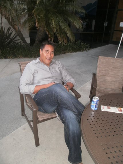 SoundDiego's Daye Salani, sitting pool side. Photo by Bart Mendoza.