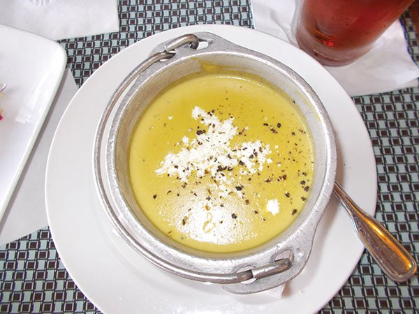 The asparagus soup