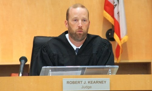 Judge Kearney emphasized the protective order at the end of the hearing. Photo Weatherston.