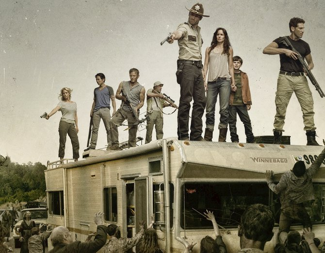 """The Walking Dead"" motorhome as seen on the TV show.."