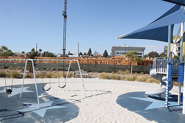The city ceded land bordering this Kearny Mesa park to the developer Sunroad.