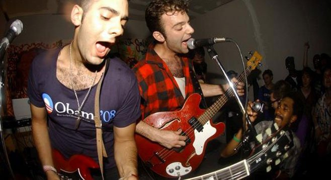 So So Glos light up Soda Bar with their infectious shout-along songs Friday night.