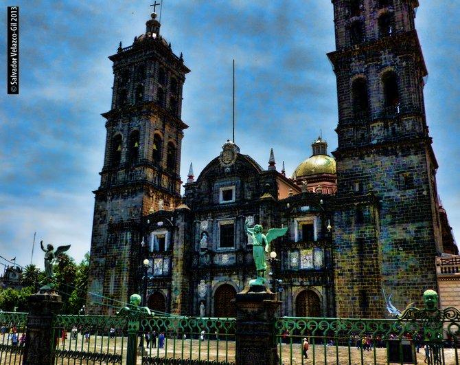 Travel Photos MEXICO City of Puebla,Puebla City of Puebla Cathedral / Catedral de la Ciudad de Puebla.