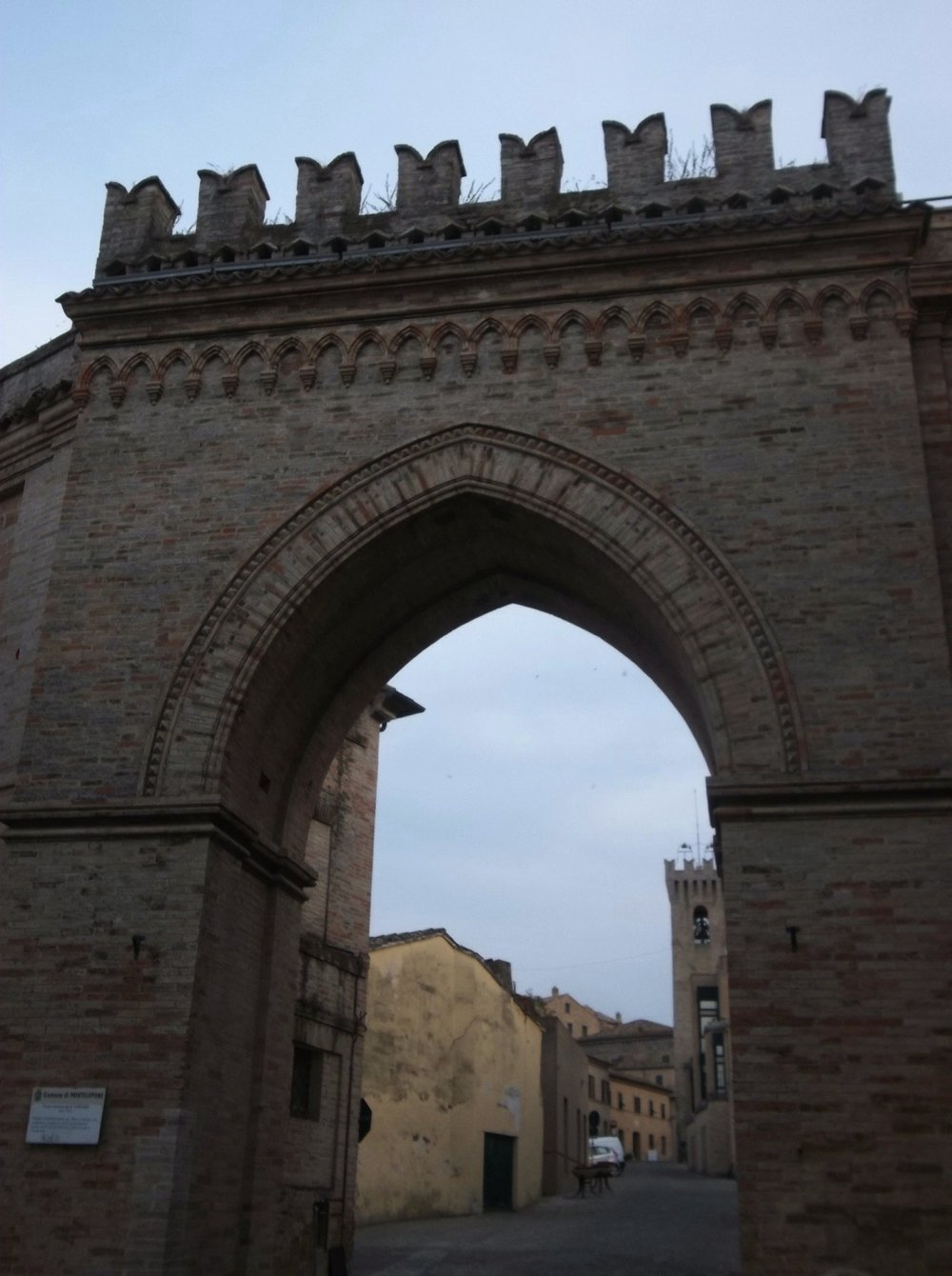Medieval entrance to Montelupone.