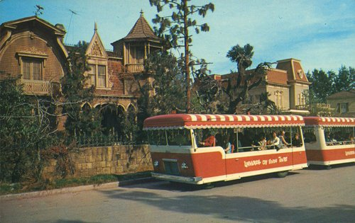 Who needs the Dragula when the Universal Studios tram is parked outside your front gate?