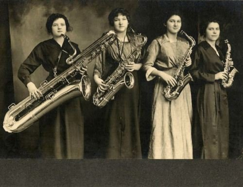 1919 style: Four Women with Saxophones