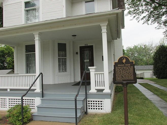 Midwest road trips are chock-full tourist stops such as Ronald Reagan's boyhood home in Dixon, IL.