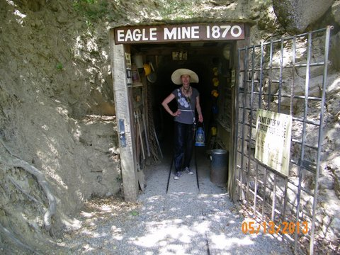 This is the entrance to the legendary Eagle Mine where many went in poor and came out rich with gold.