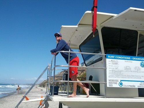 Nick, Lifeguard at Leucadia's Grandview Beach