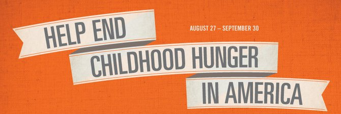 Sept. 30 is the last day to help Joe's raise money for No Kid Hungry. Donate $5-$10 to get free food.