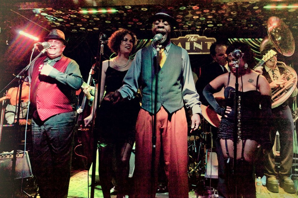 Cabaret act Vaud & the Villains take the stage at Belly Up on Sunday night.
