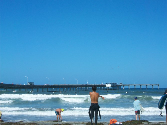 Getting ready for some surfing action in Ocean Beach.