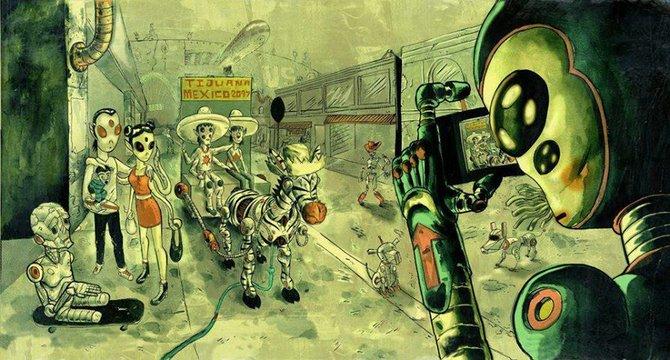 Tijuana 2097, by Tijuana artist Charles Glaubitz