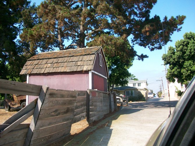 Old barn in Pacific Beach along Ingraham St.
