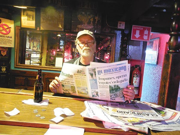 Author T.B. Beaudeau knows that downtown TJ dive bars are the place to gather news about Tijuana's expatriate gringos.