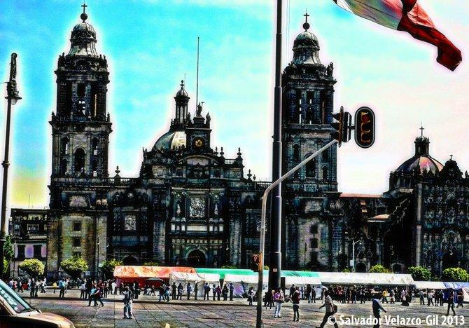 Travel Photos MEXICO Cathedral in Mexico City / Catedral en la Ciudad de Mexico.