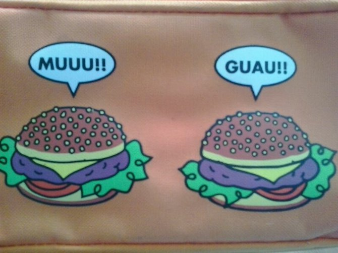 For no particular reason, here are some burgers making Spanish cow noises.