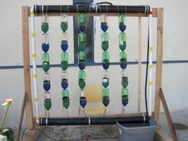 My son's 7th grade hydroponic project at High Tech Middle. Built with two other students.