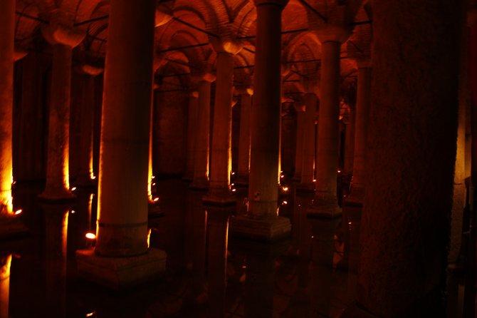 Underground cisterns in Istanbul, Turkey