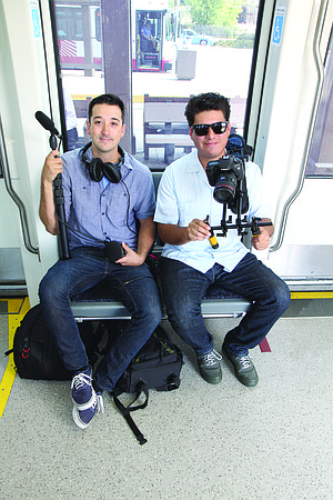 Andrew Rowley and Rob Knauf take well-known local musicians and have them perform on a crowded trolley.