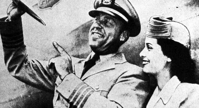 Captain E.J. Smith and Marty Morrow of UAL Flight 105