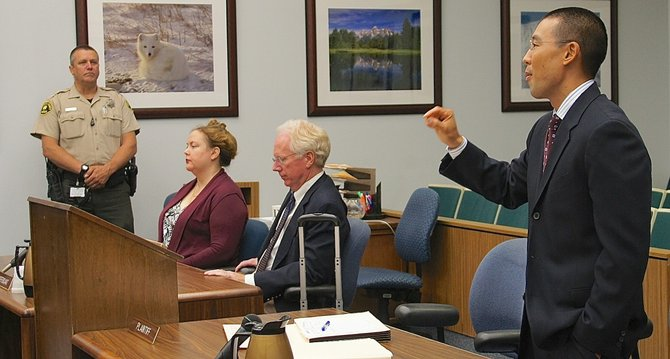 Defendant Harper, attorney Pfingst, prosecutor Keith Watanabe. Photo Eva.