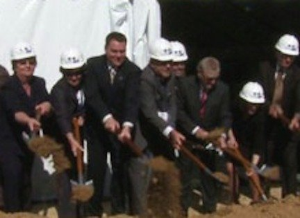 Then-city councilman Carl DeMaio breaks ground on Molasky-owned FBI complex