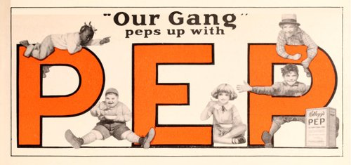 Ad for PEP Cereal, 1927.