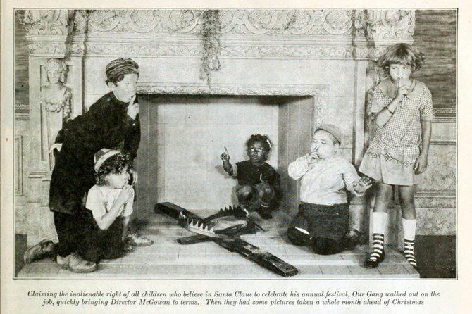 """""""Our Gang"""" Christmas. """"Photoplay,"""" January, 1925."""