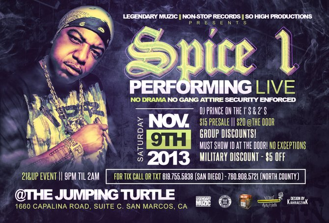 Spice 1 performing LIVE Nov 9th