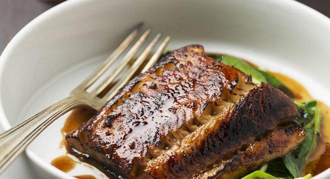 Black cod brûlée