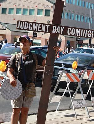 Sidewalk preacher