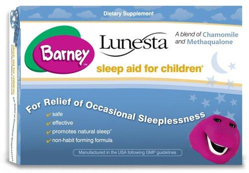 Barney, the big purple pill.