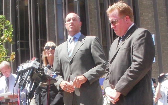 Marco Gonzalez (center), Cory Briggs (right)