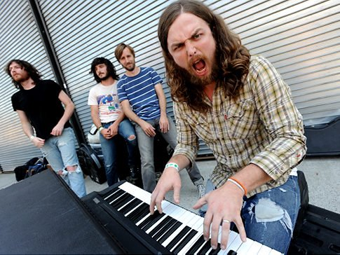Southern-fried rockers J. Roddy Walston and the Business check in at Soda Bar Sunday night.