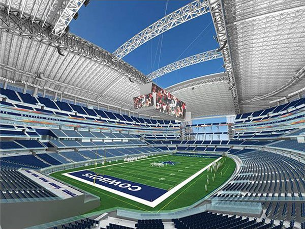 Texas propagandists overestimated Super Bowl revenues at Cowboys Stadium, now AT&T Stadium.