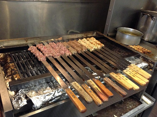 Skewers on the grill